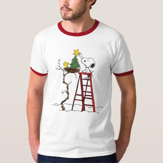 Peanuts | Snoopy & Woodstock Christmas Tree T-Shirt