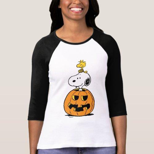 Peanuts  Snoopy  Woodstock Pop_up Pumpkin T_Shirt