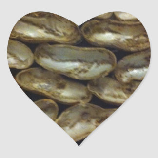 Peanuts stolen from Monkeys - Organic pattern Heart Sticker