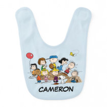 Peanuts | The Gang at the Pitcher's Mound Baby Bib