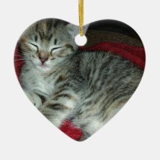 Peapicker kitty ceramic ornament
