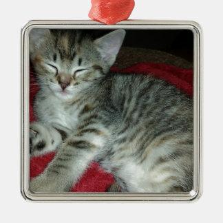 Peapicker kitty metal ornament