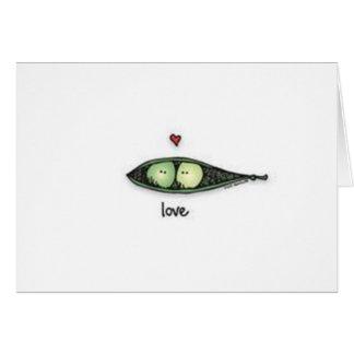 Peapod Love Card