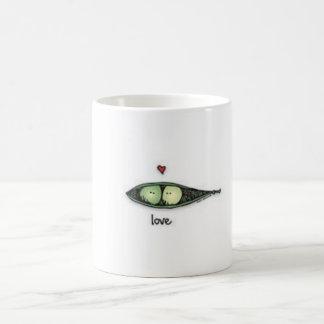 Peapod Love Classic White Coffee Mug
