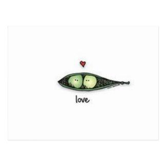 Peapod Love Postcard