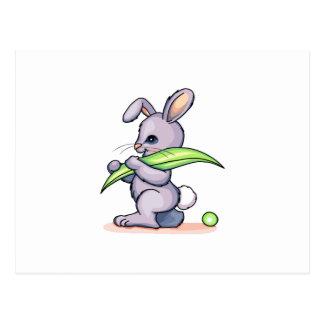 Peapod Rabbit Postcard