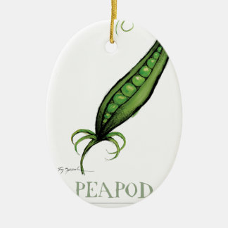 peapod, tony fernandes ceramic ornament