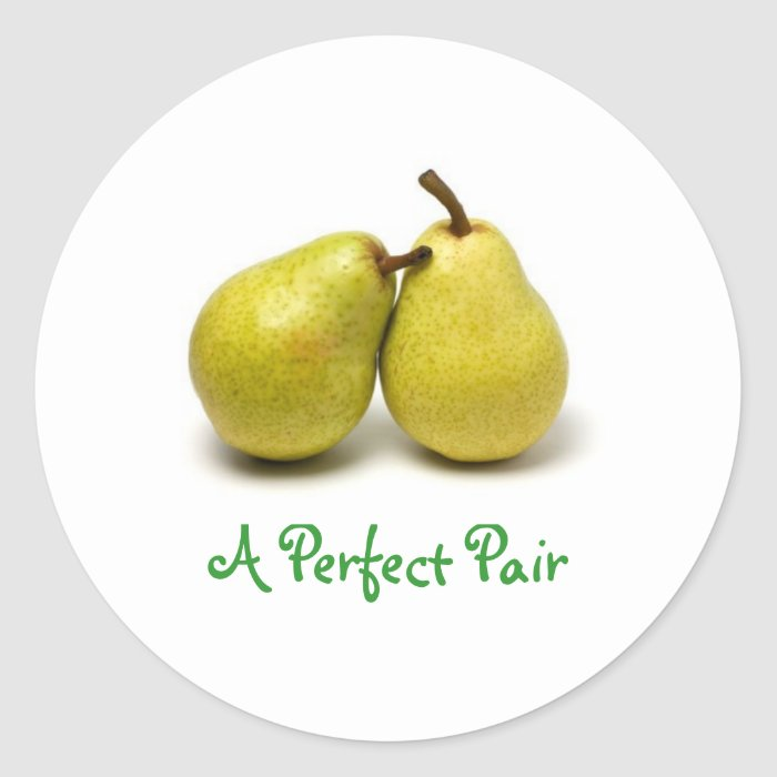 pear, A Perfect Pair Classic Round Sticker