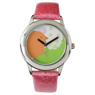 Pear and Bird watch Reloj