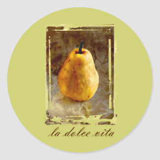 Pear Art Classic Round Sticker