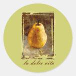 Pear Art Round Stickers