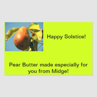 Pear Butter Jam Label Stickers