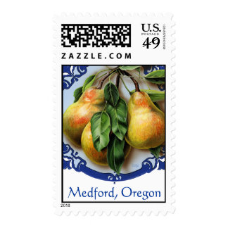 Pear capitol of the world. Medford, Oregon. Postage Stamps