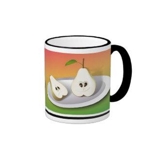 Pear Cut Ringer Coffee Mug