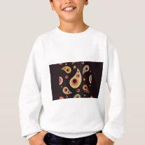 Pear dot pattern sweatshirt