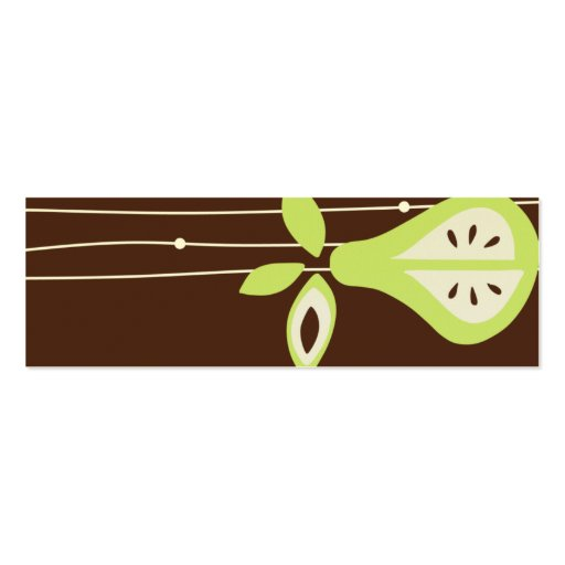 Pear For You Hang Tags Business Card