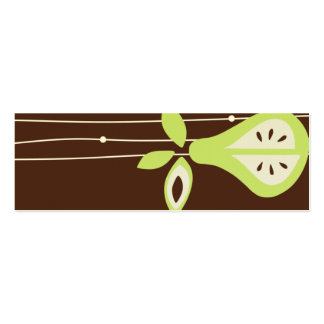 Pear For You Hang Tags Mini Business Card