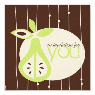 """Pear For You Invitations 5.25"""" Square Invitation Card"""
