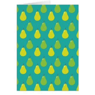 Pear Fruit Pattern Card
