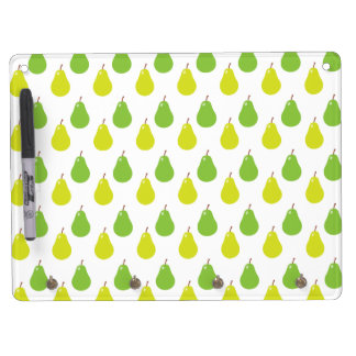 Pear Fruit Pattern Dry Erase Board With Keychain Holder
