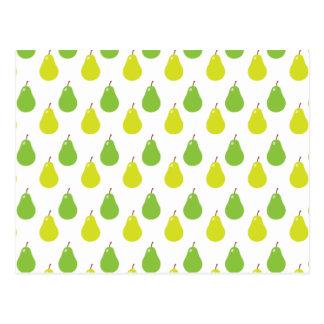 Pear Fruit Pattern Postcard