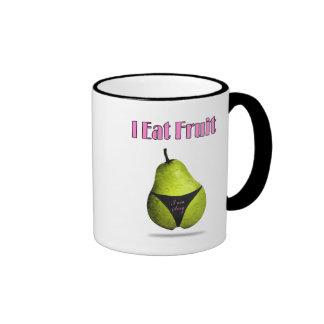 Pear fruit picture ringer coffee mug