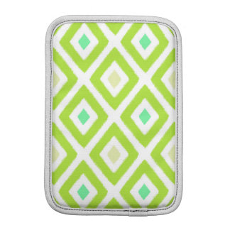 Pear Green Ikat Diamond Pattern Sleeve For iPad Mini