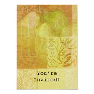 "Pear Harmonies 5"" X 7"" Invitation Card"