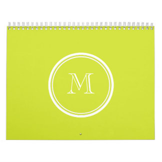 Pear High End Colored Monogram Initial Calendar
