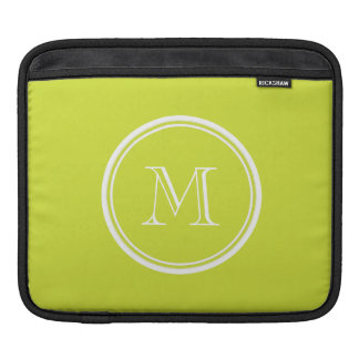 Pear High End Colored Monogram Initial Sleeves For iPads