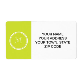 Pear High End Colored Monogram Initial Label