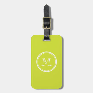 Pear High End Colored Monogram Initial Travel Bag Tag