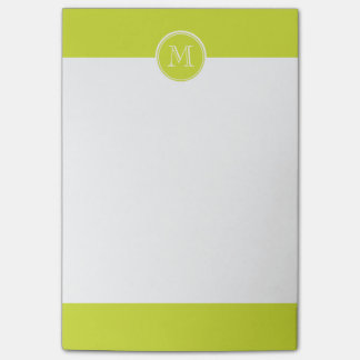 Pear High End Colored Monogram Initial Post-it® Notes