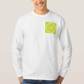 Pear High End Colored Monogram Initial T-Shirt