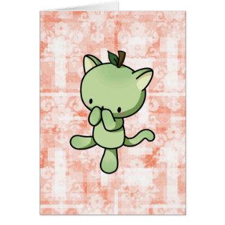Pear Kitty Card