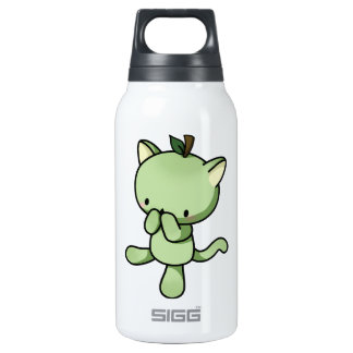 Pear Kitty Thermos Water Bottle