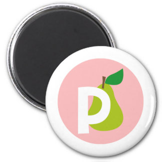 pear 2 inch round magnet
