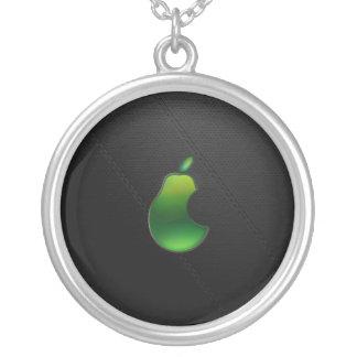 pear mousepad round pendant necklace
