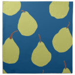 pear navy and green napkins