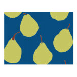 pear navy and green postcard