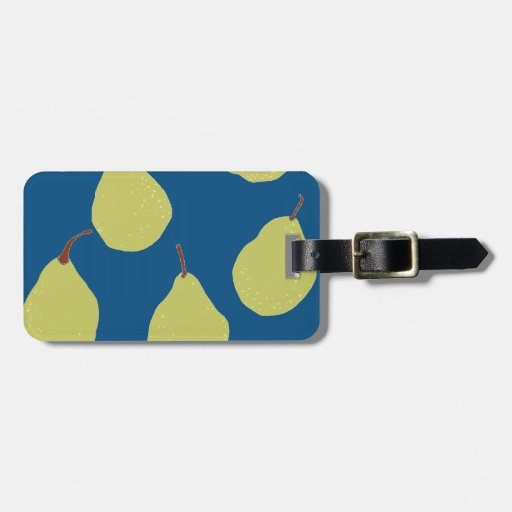 pear navy and green tag for bags