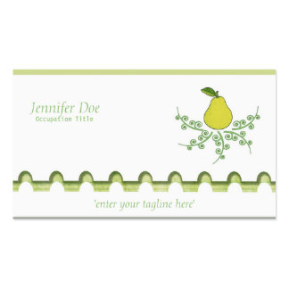 Pear on White Double-Sided Standard Business Cards (Pack Of 100)