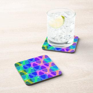 Pear pattern in blue beverage coaster
