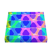 Pear pattern in blue canvas print