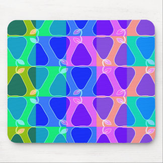 Pear pattern in blue mouse pad