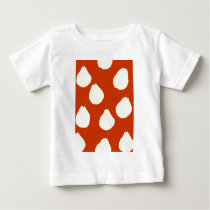 pear pattern red and cream baby T-Shirt