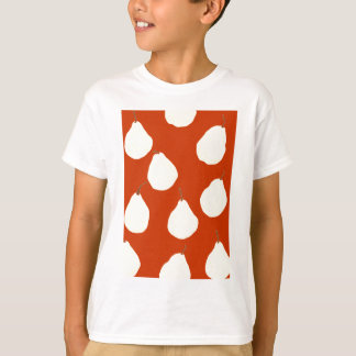 pear pattern red and cream T-Shirt