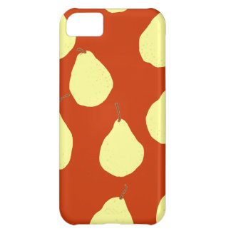 pear pattern red and cream yellow case for iPhone 5C
