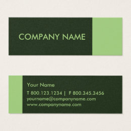Pine green color business cards templates zazzle pear pine green modern mini business card reheart Images