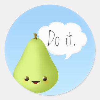 Pear Pressure Classic Round Sticker